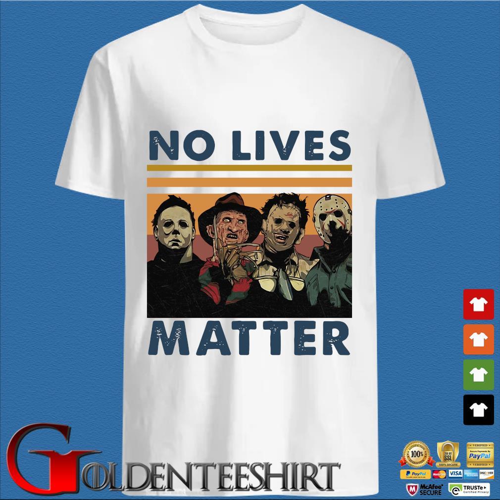 Horror character no lives matter Halloween vintage shirts