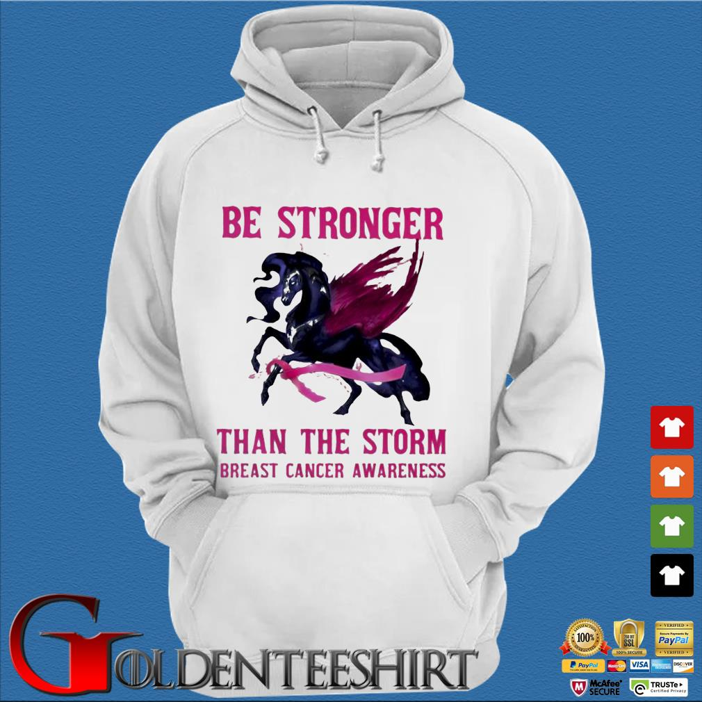 Horse be stronger than the storm breast cancer awareness s Trang Hoodie