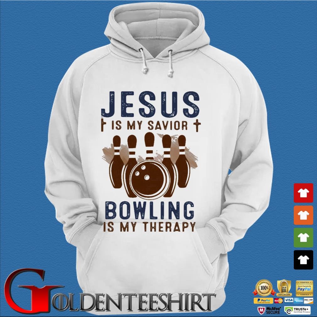 Jesus is my savior bowling is my therapy s Trang Hoodie