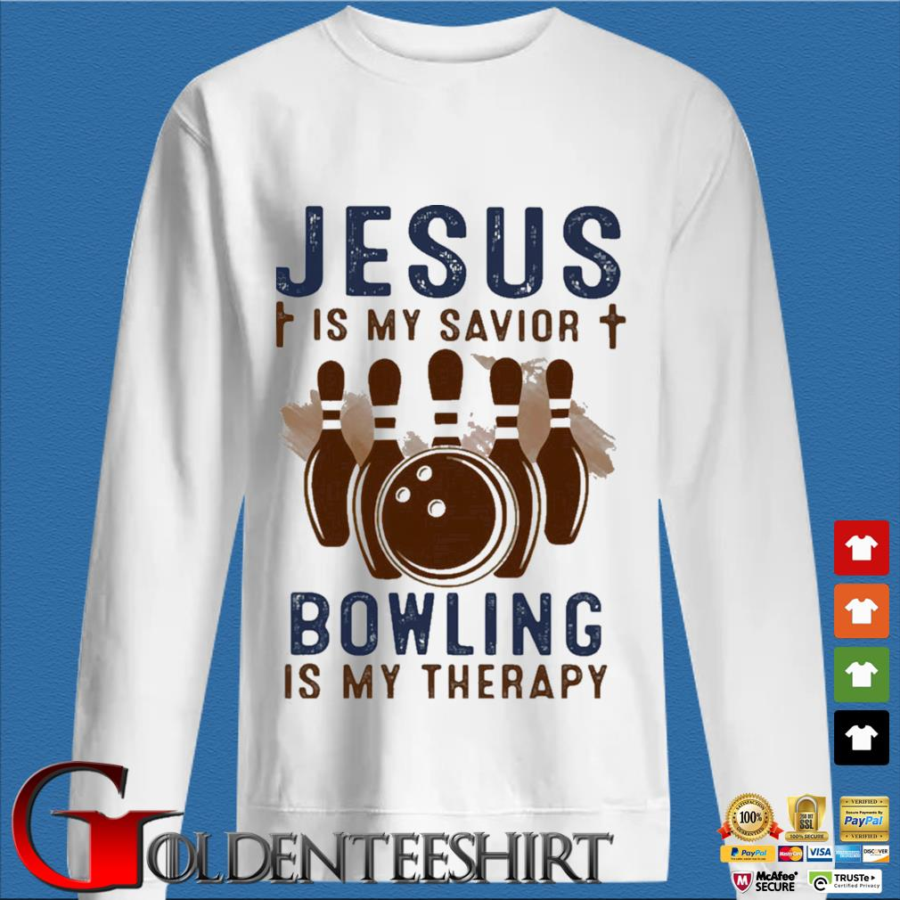 Jesus is my savior bowling is my therapy s trang Sweater
