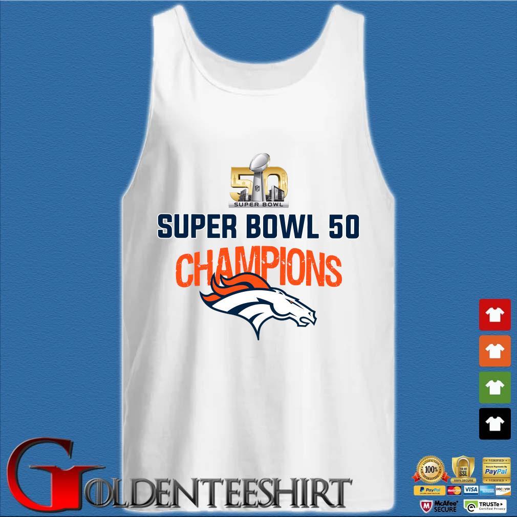 Super bowl 50 champion s Tank top trắng