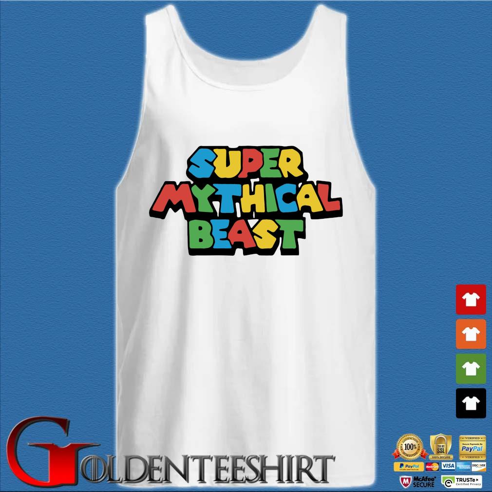 Super mythical beast s Tank top trắng