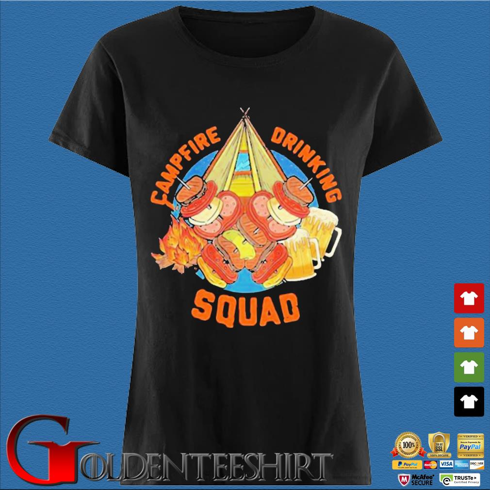 Sweet Camping Campfire Drinking Squad Shirt Den Ladies