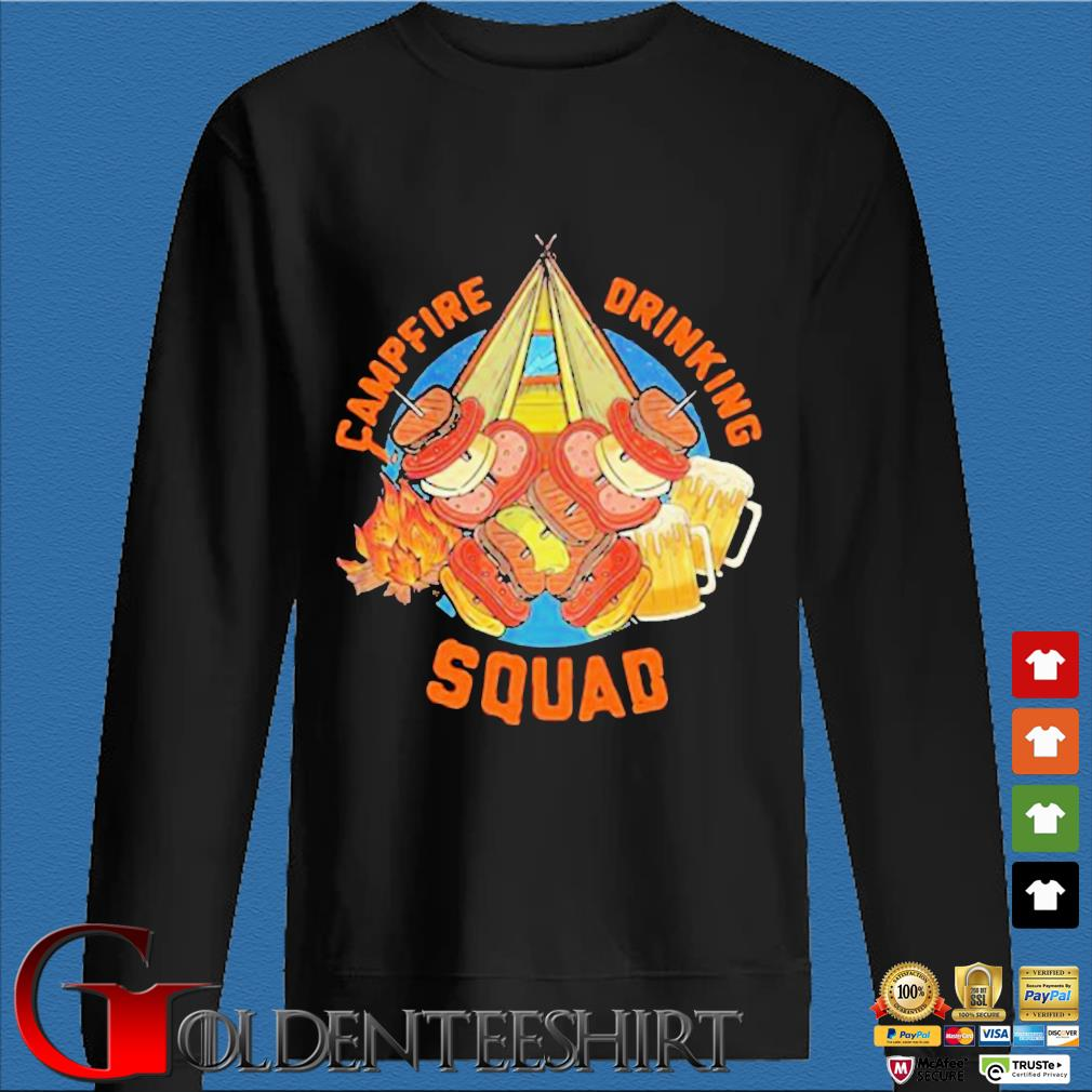 Sweet Camping Campfire Drinking Squad Shirt Den Sweater