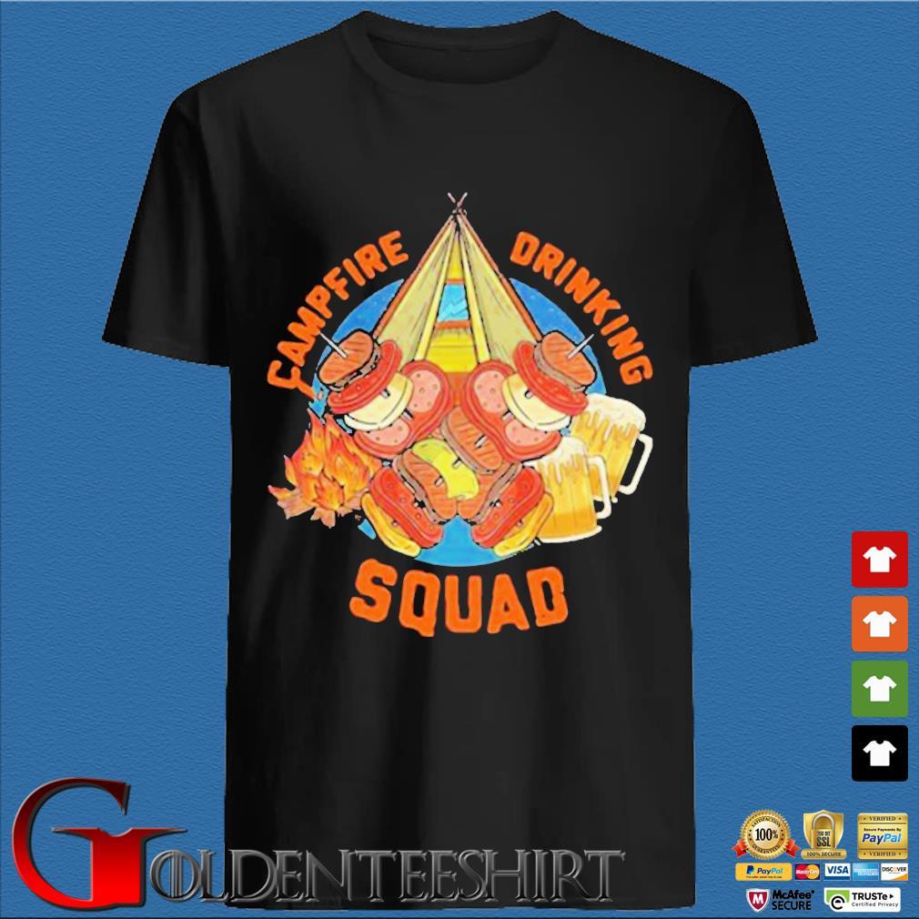 Sweet Camping Campfire Drinking Squad Shirt