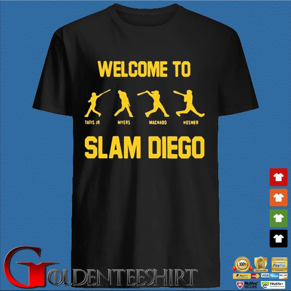 Tatis Jr Myers Machado Hosmer welcome to slam diego shirt