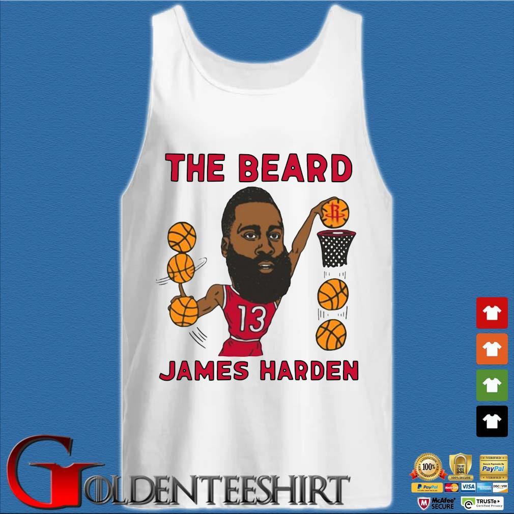 The beard James Harden Houston Rockets caricature s Tank top trắng