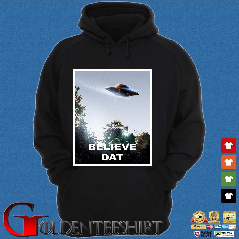 UFO Believe Dat Alien 2020 s Hoodie đen
