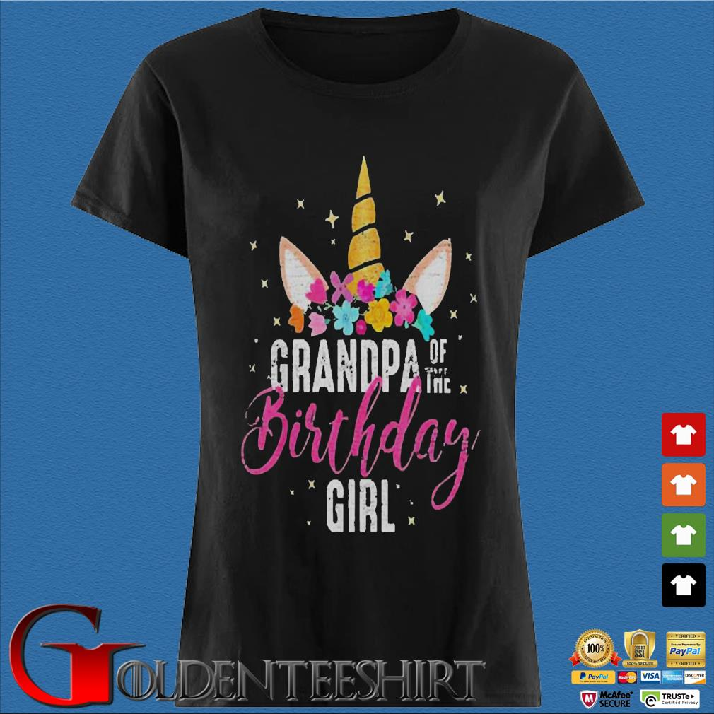 Unicorn Birthday girl Shirt Den Ladies