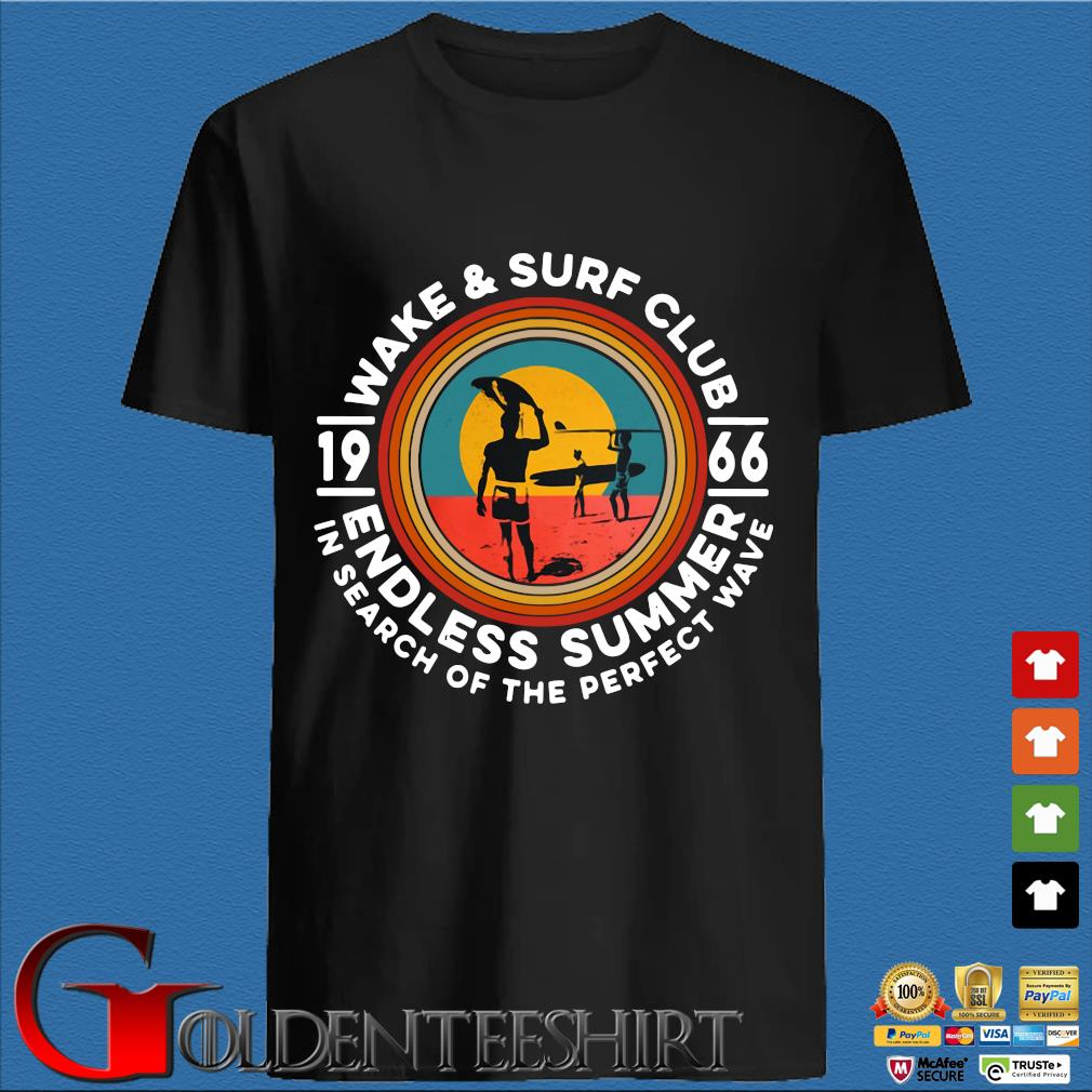 Wake and surf club 1966 endless summer in search of the perfect wave vintage tee shirt