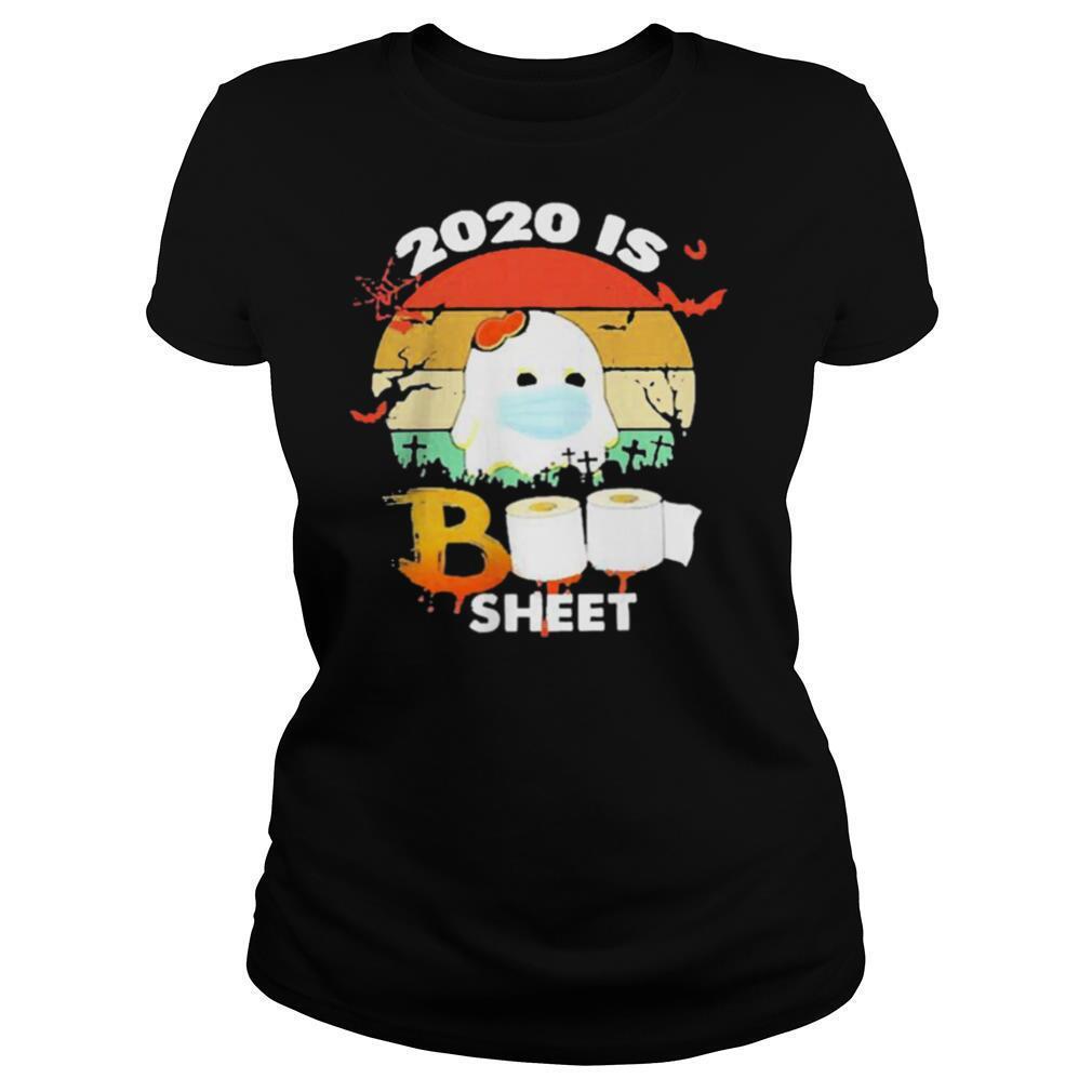 2020 Is Boo Sheet Face Mask Toilet Paper Halloween shirt
