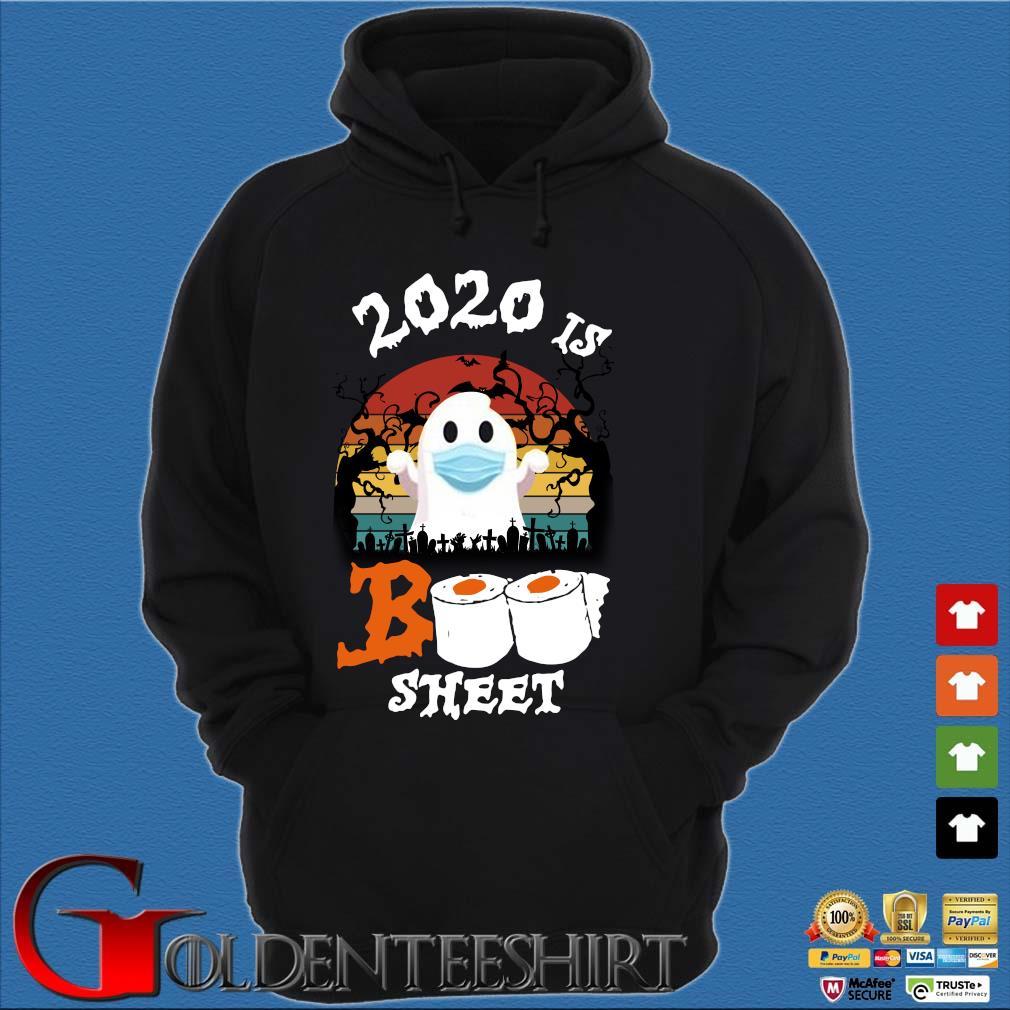 2020 is boo sheet Halloween quarantine vintage s Hoodie đen