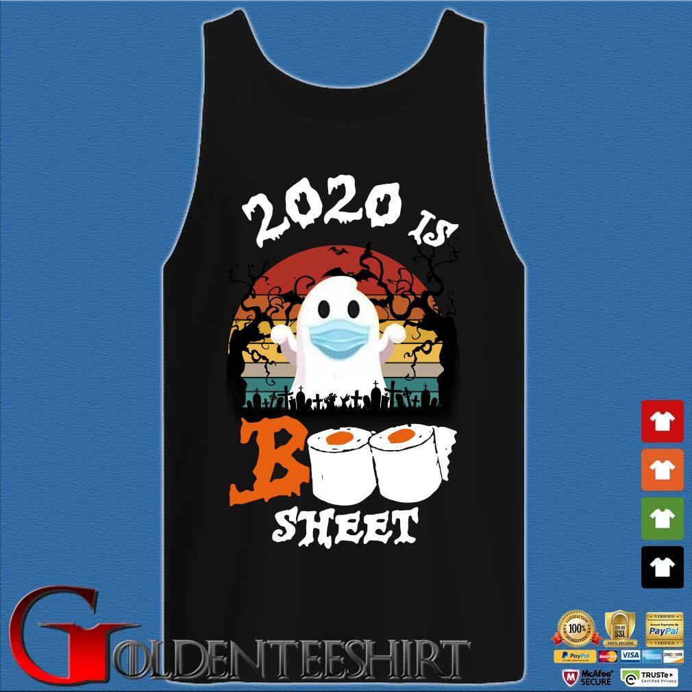 2020 is boo sheet Halloween quarantine vintage s Tank top den