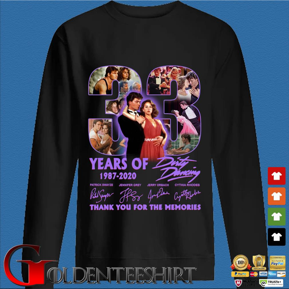 33 years of 1987 2020 Dirty Dancing thank you for the memories signatures s Den Sweater