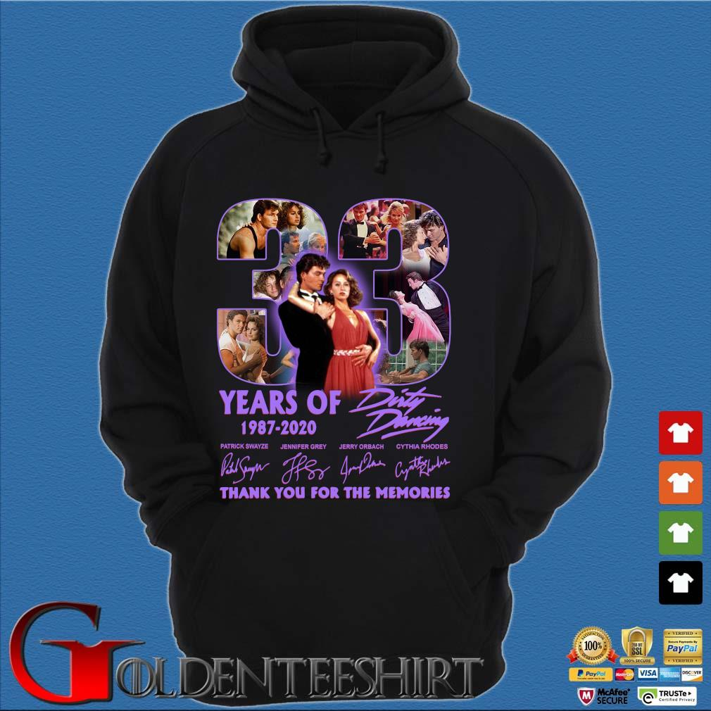33 years of 1987 2020 Dirty Dancing thank you for the memories signatures s Hoodie đen
