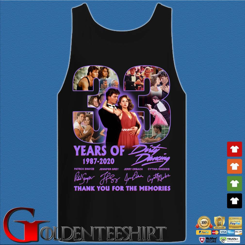 33 years of 1987 2020 Dirty Dancing thank you for the memories signatures s Tank top den