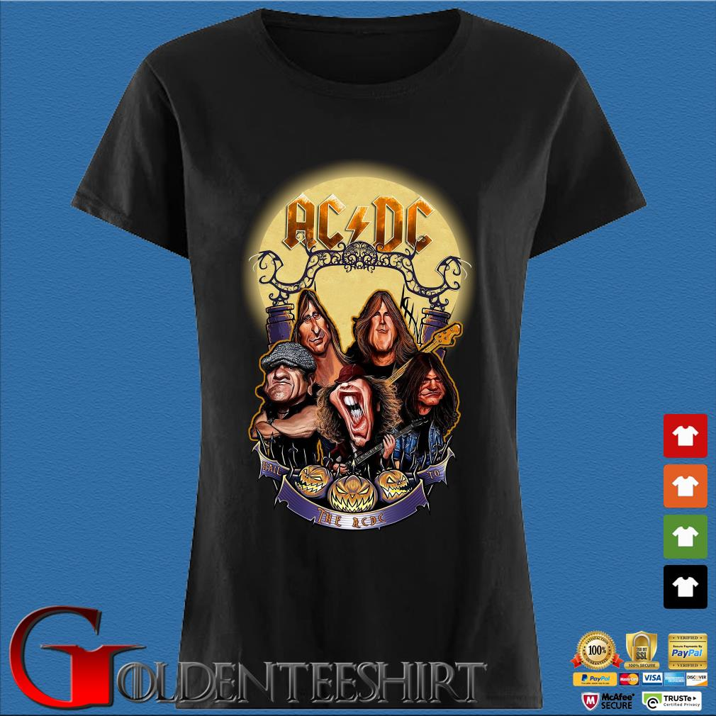 AC DC Heavy Metal Music Band band hail the AC DC to Halloween s Den Ladies
