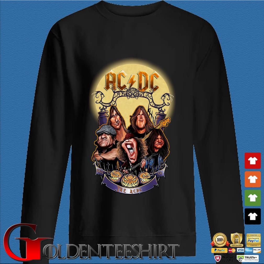 AC DC Heavy Metal Music Band band hail the AC DC to Halloween s Den Sweater