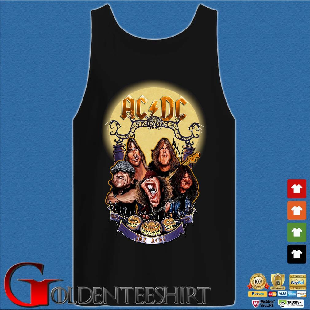 AC DC Heavy Metal Music Band band hail the AC DC to Halloween s Tank top den