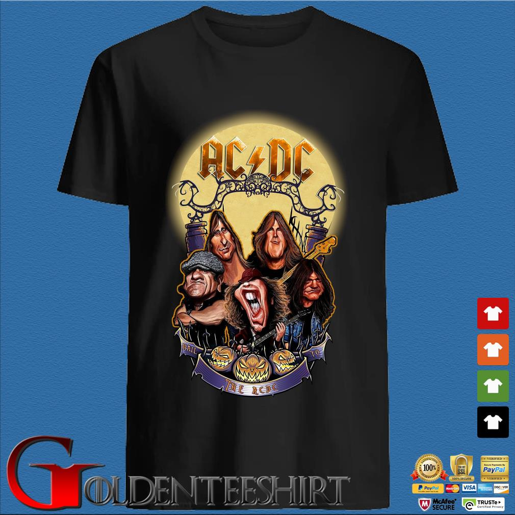 AC DC Heavy Metal Music Band band hail the AC DC to Halloween shirt