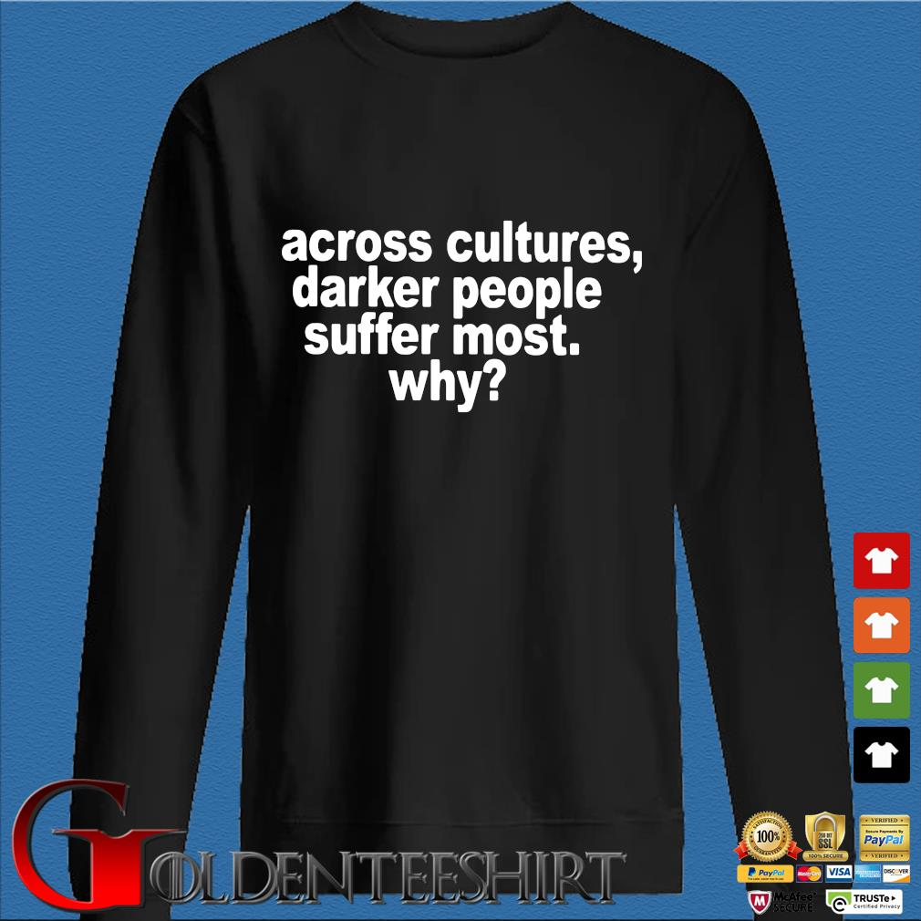 Across cultures darker people suffer most why s Den Sweater