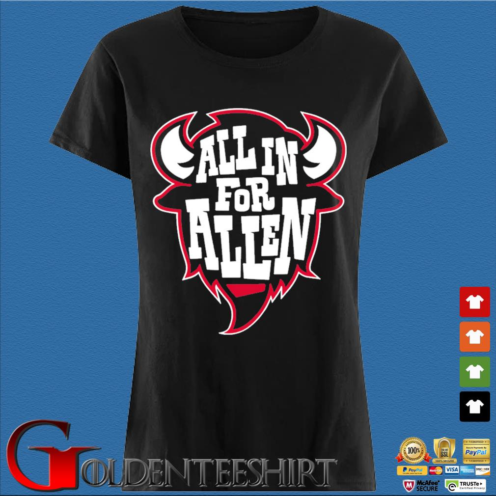 All in For Allen Buffalo Football T-Shirt Den Ladies