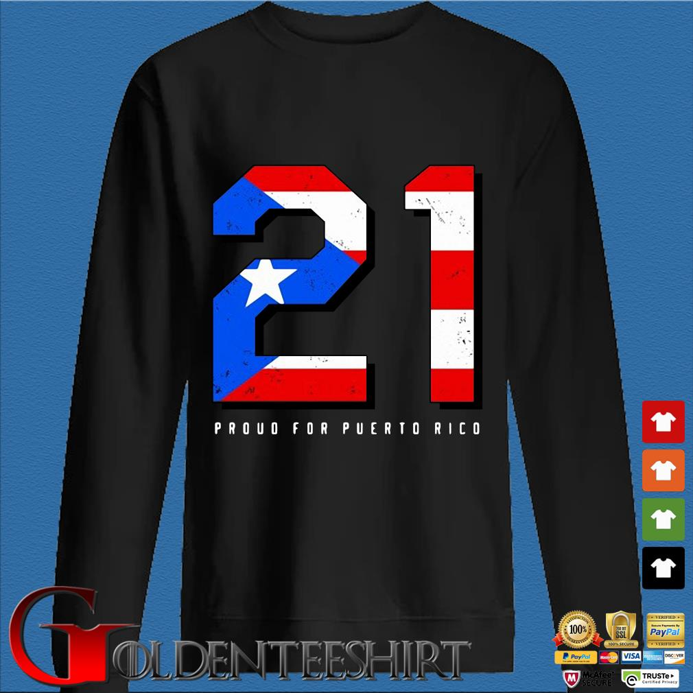 American flag 21 proud for puerto rico s Den Sweater