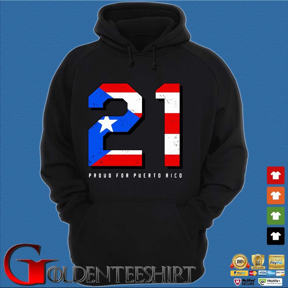 American flag 21 proud for puerto rico s Hoodie đen