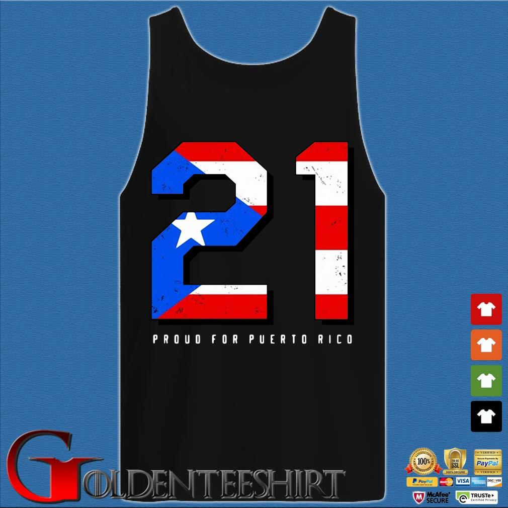 American flag 21 proud for puerto rico s Tank top den