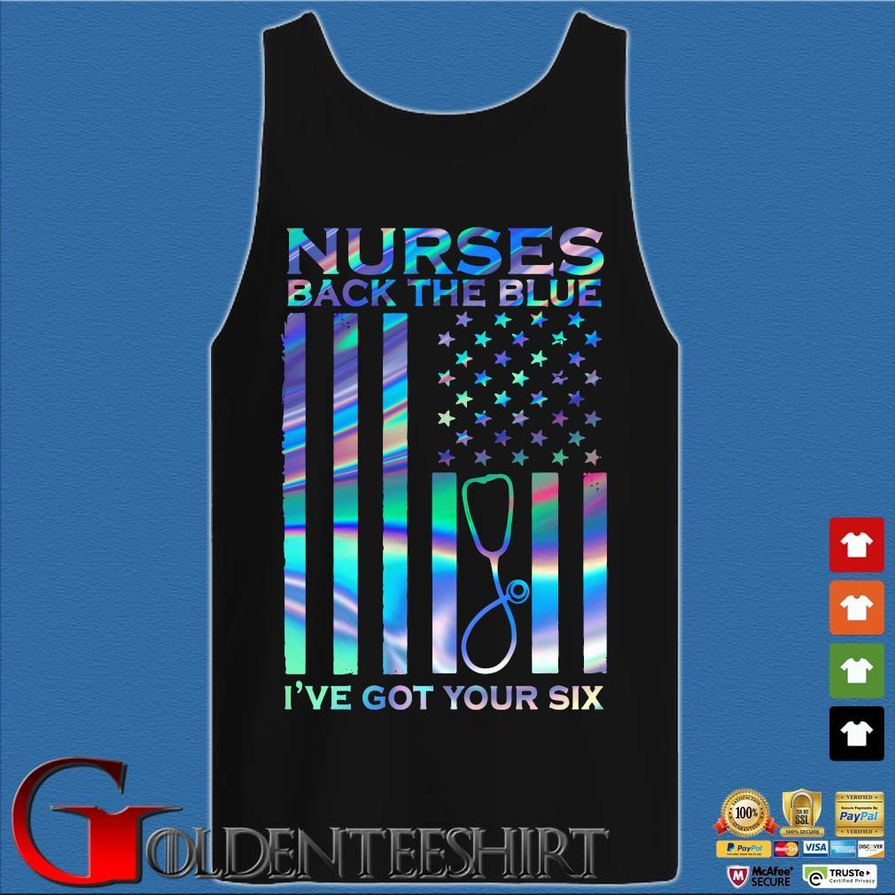 American Nurses back the blue I've got your six s Tank top den