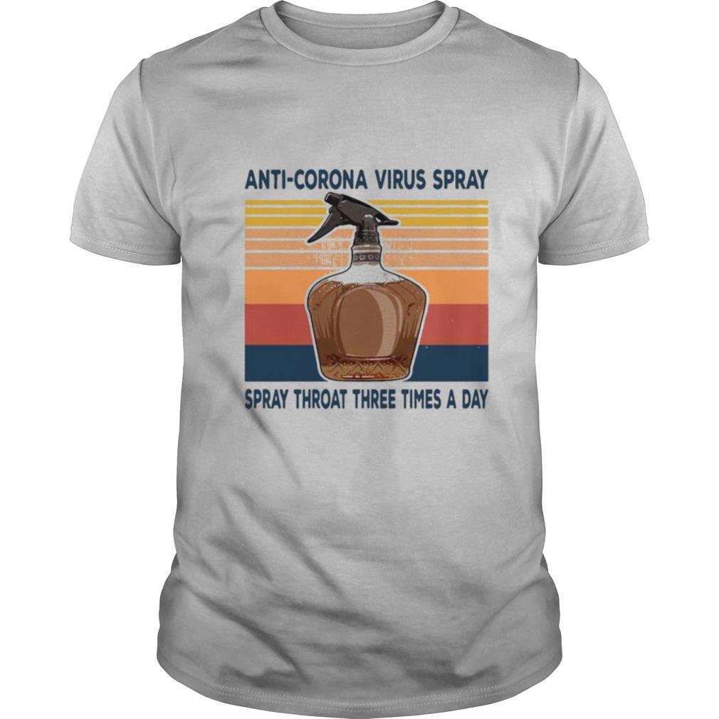 Anti Corona Virus Spray Spray Throat Three Times A Day Vintage Retro shirt
