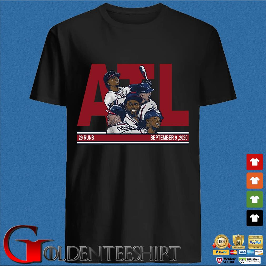 ATL Atlanta baseball 29 runs September 9 2020 shirt