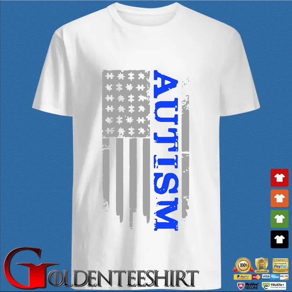 Autism Awareness American flag shirt