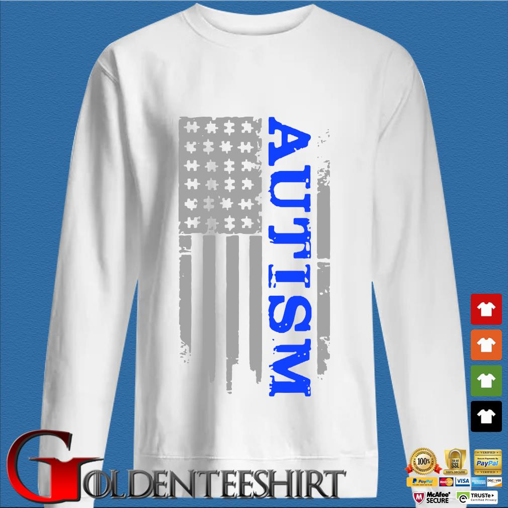 Autism Awareness American flag s trang Sweater