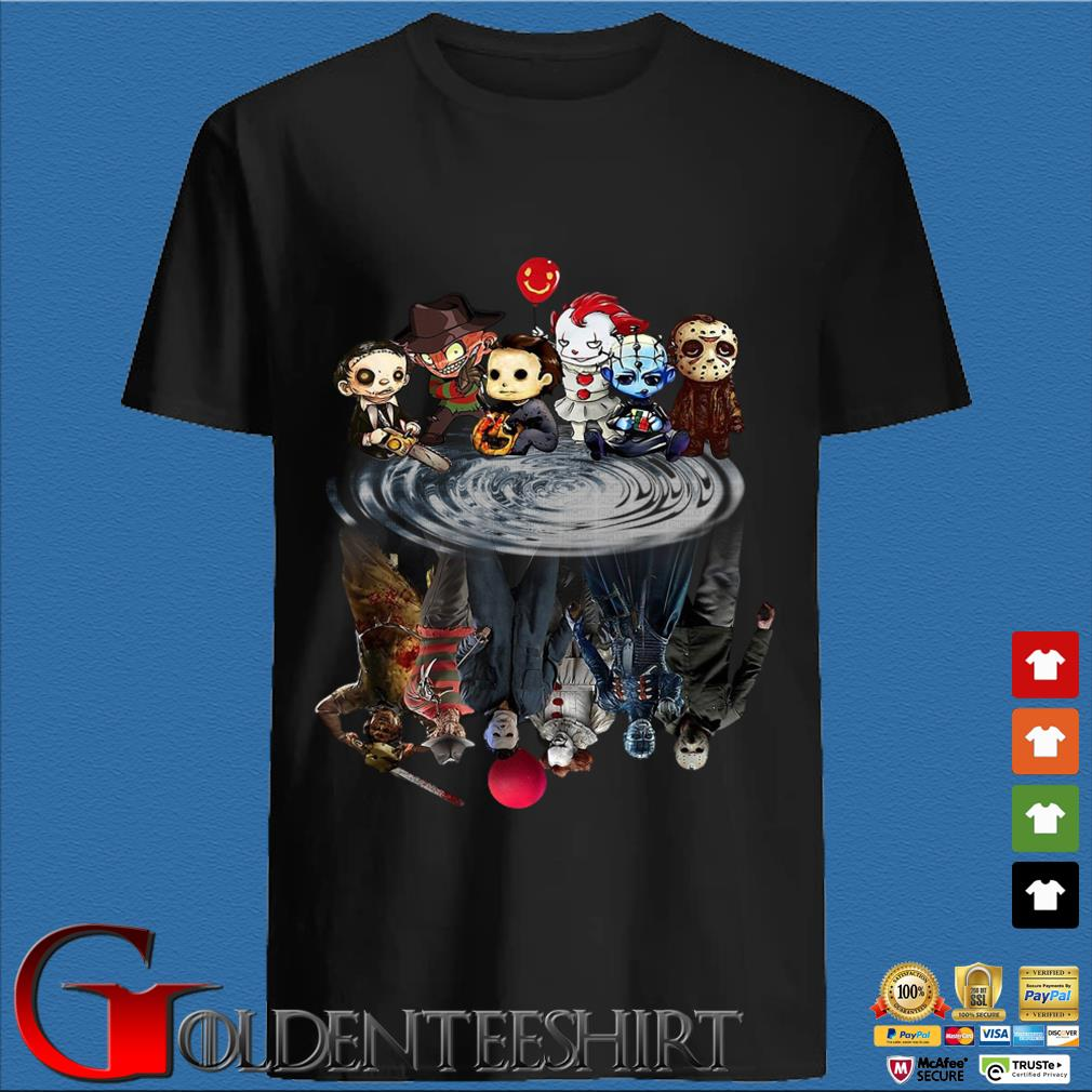 Baby horror movies character friends water reflective shirt