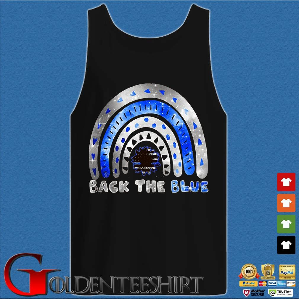 Back the blue rainbow sunflower s Tank top den