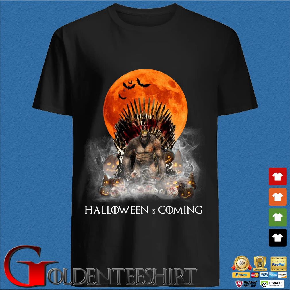 Bigfoot the king Halloween is coming shirt