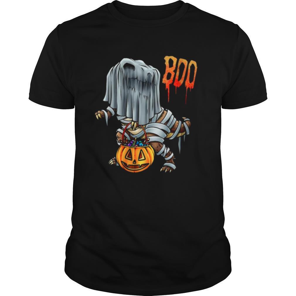 Boo Sheet Dinosaur Boo T Rex Halloween Costume shirt