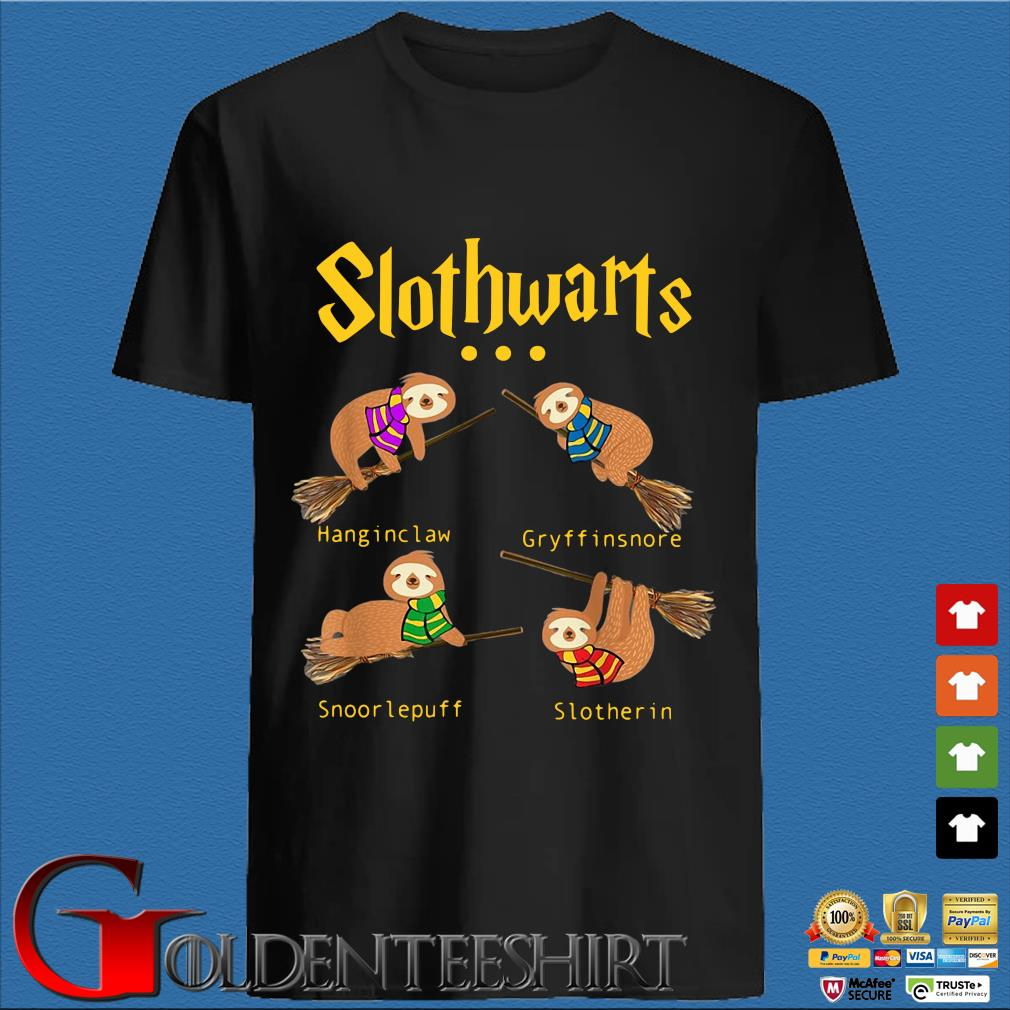 Harry Potter Slothwarts Gryffinsnore Snoozlepuff Hanginclaw Slotherin shirt
