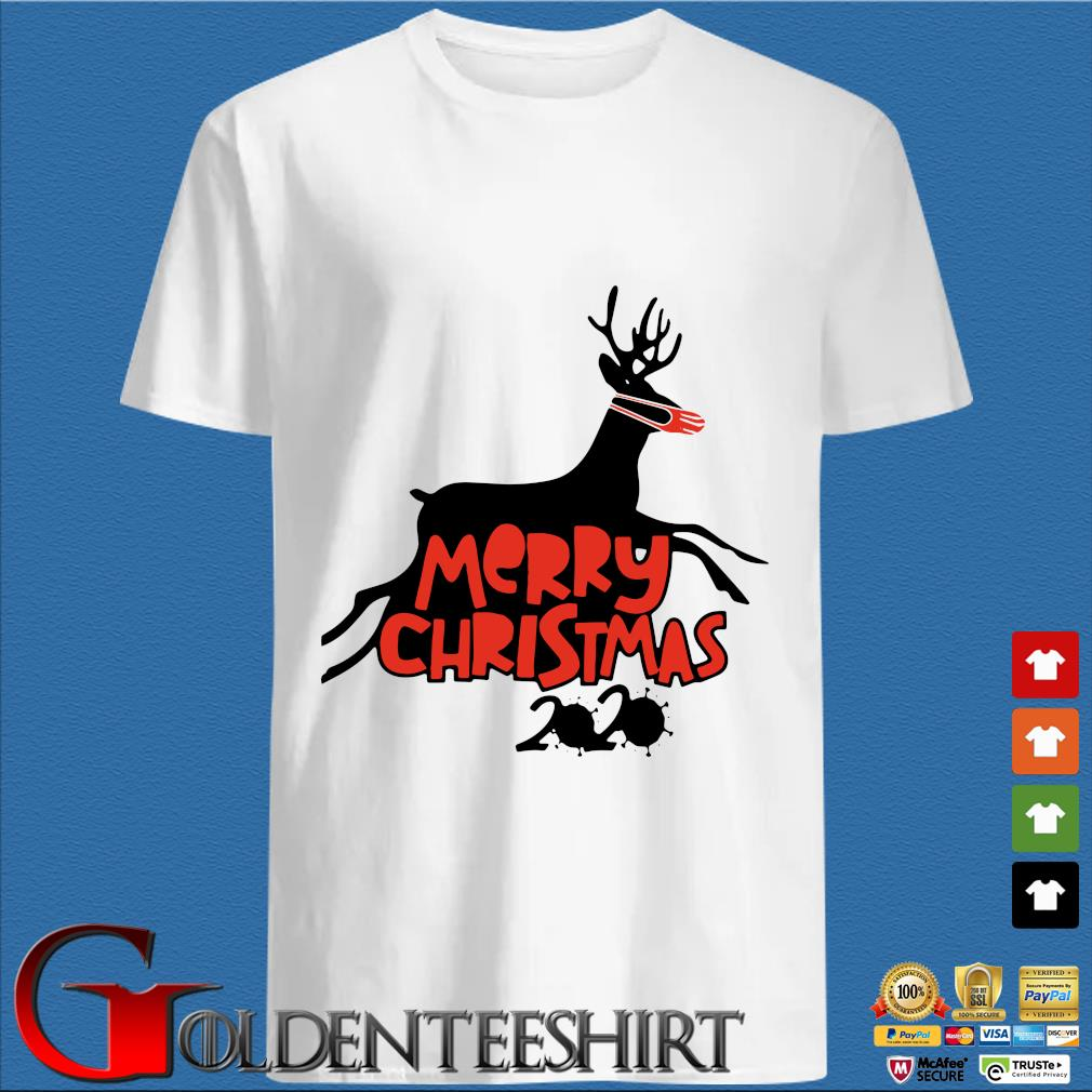 Merry Christmas 2020 reindeer wear a mask shirt