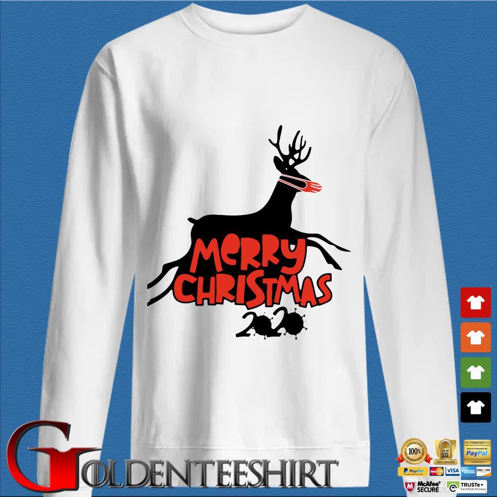 Merry Christmas 2020 reindeer wear a mask s trang Sweater
