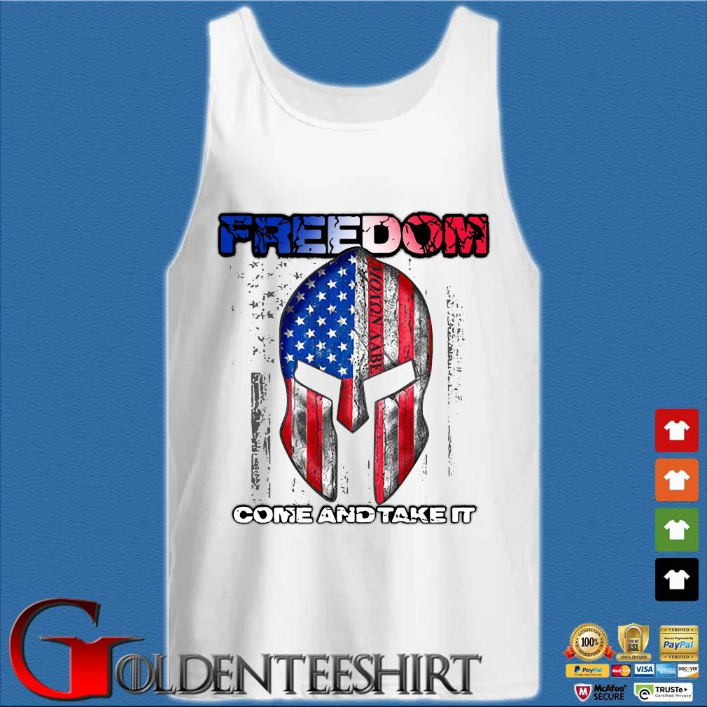 Molon Labe American flag Freedom come and take it s Tank top trắng