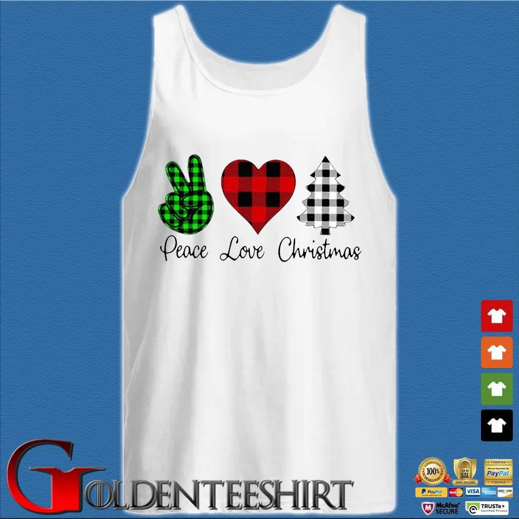 Peace love Christmas s Tank top trắng