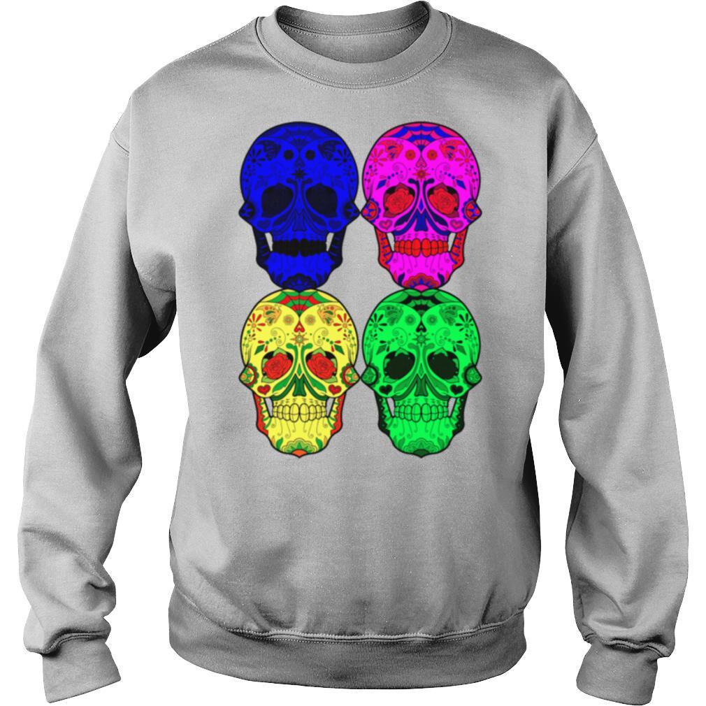 Skulls Dia De Muertos Day Of The Dead In Mexican shirt