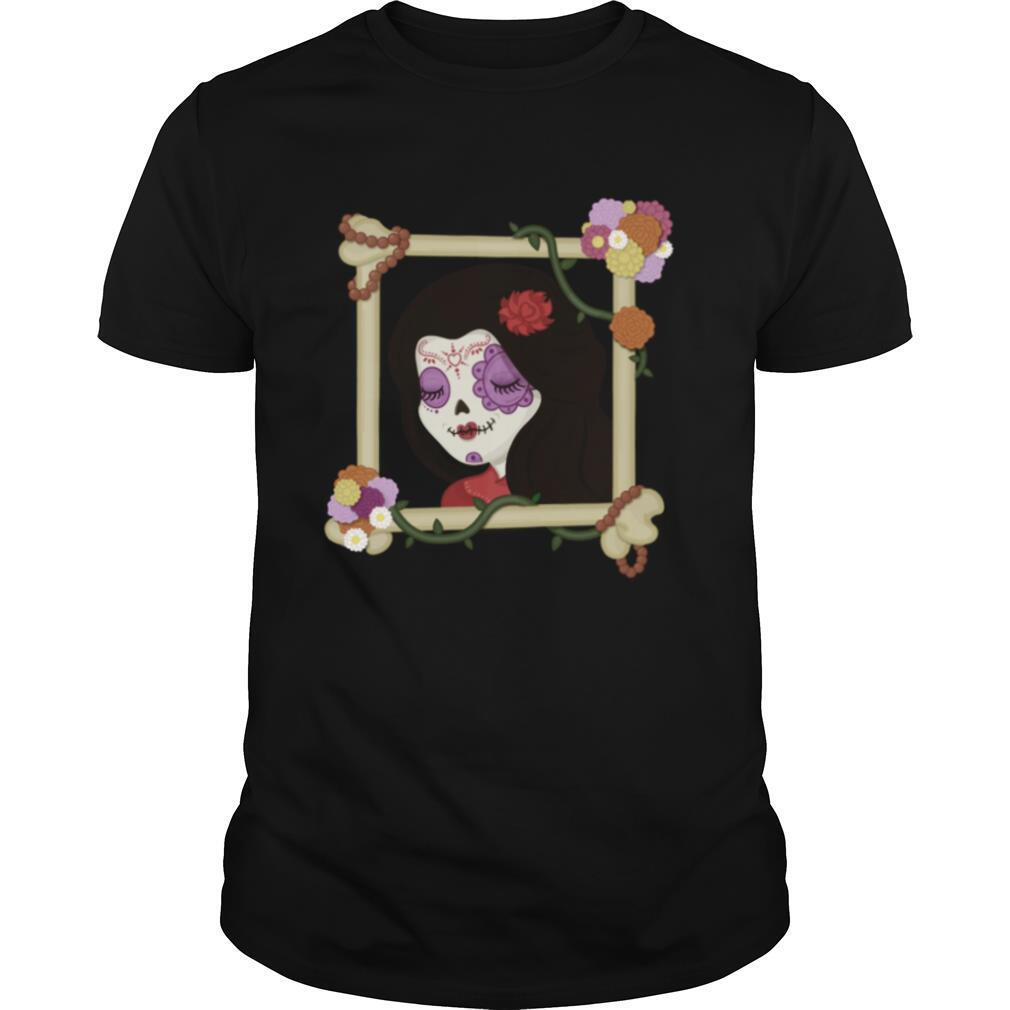 Sugar Skull Girl Beautiful Day Of The Dead Dia De Muertos shirt