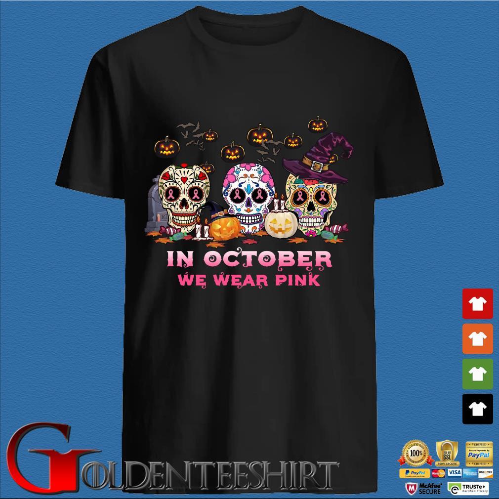 Sugar Skulls tattoo in October we wear pink Halloween shirt