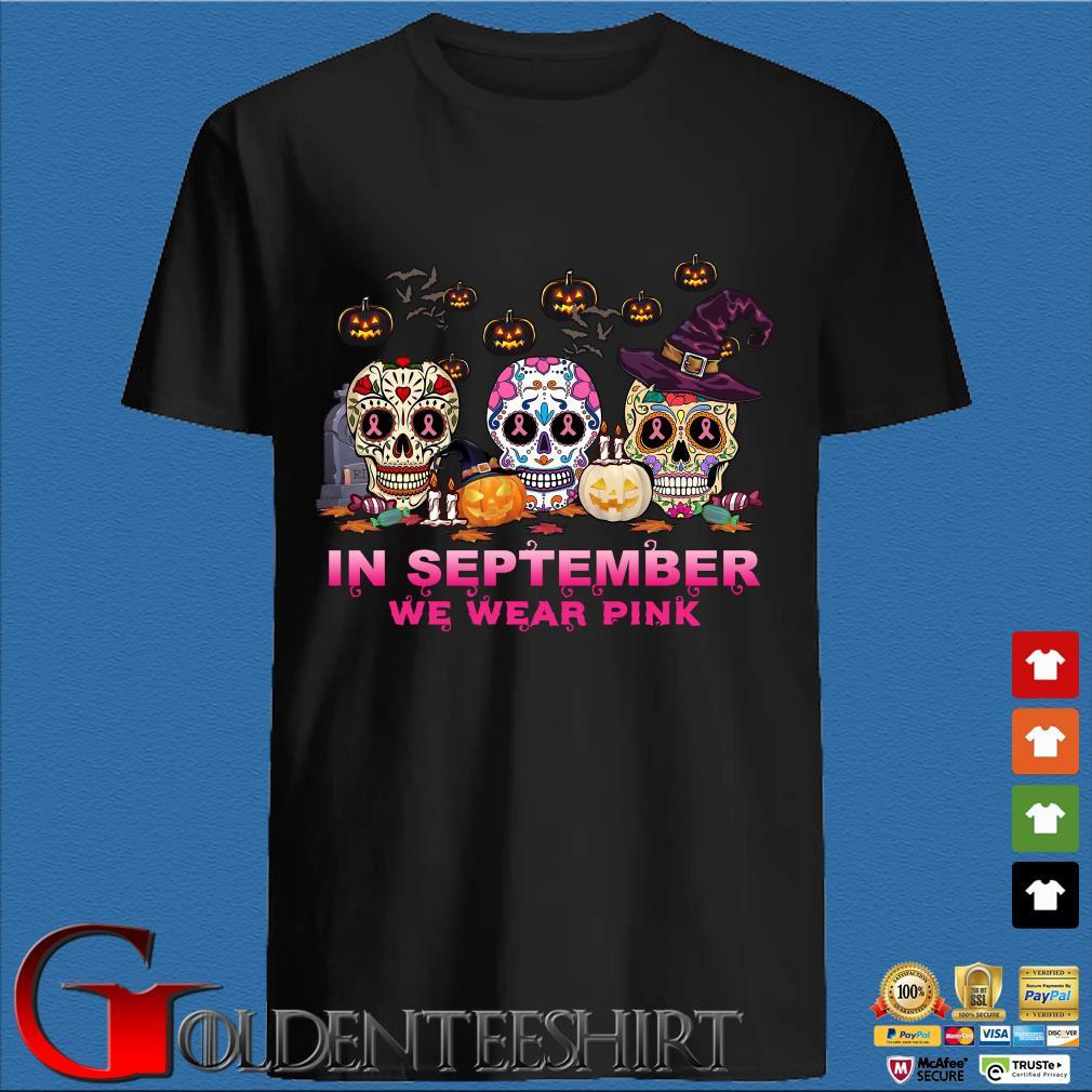 Sugar Skulls tattoo in September we wear pink Halloween shirt