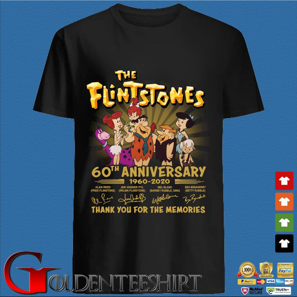 The Flintstones 60th anniversary 1960 2020 signatures thank you for the memories shirt