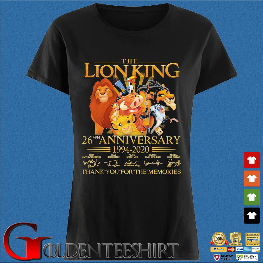 The lion king 26th anniversary 1994-2020 signatures thank you for the memories s Den Ladies