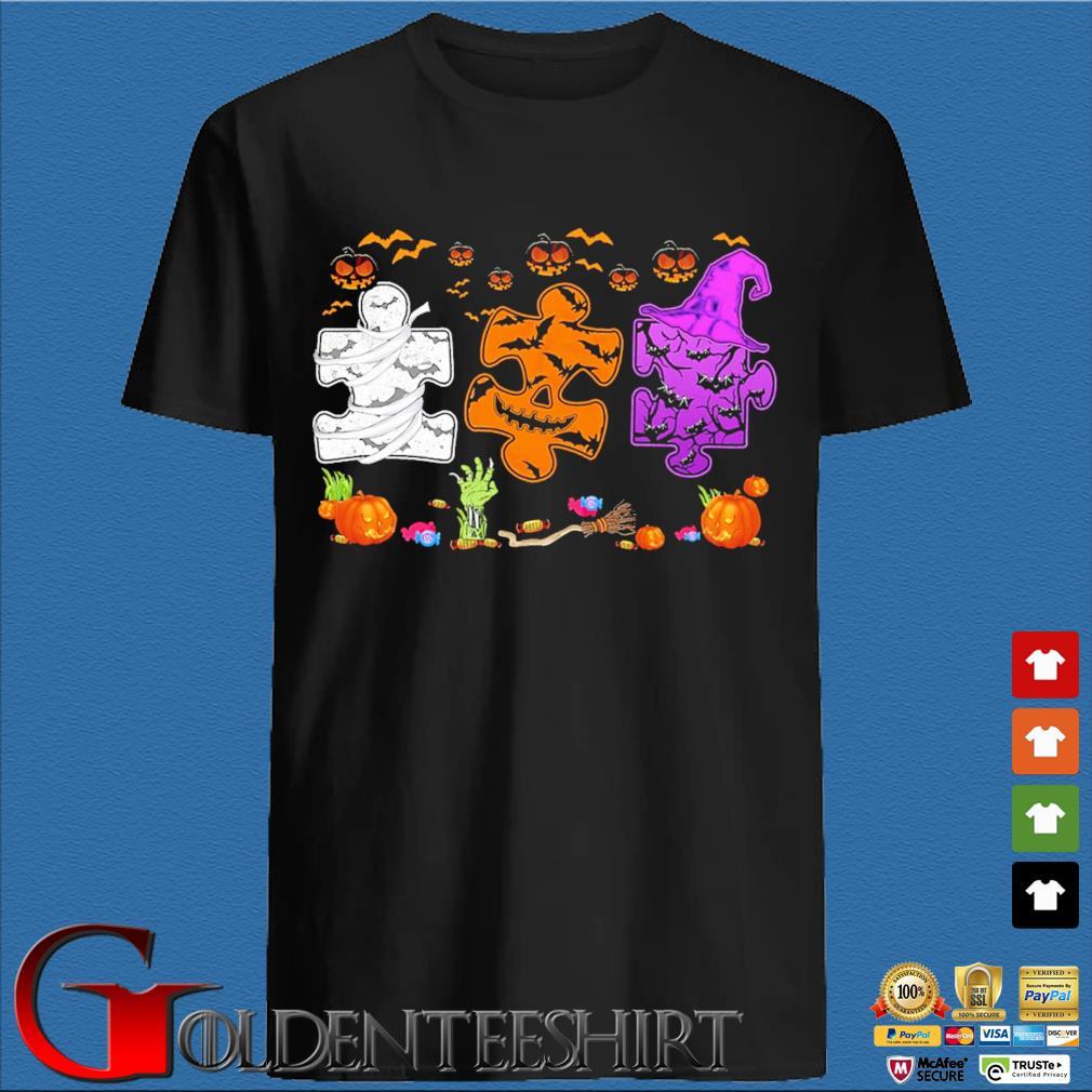 Three autism Halloween shirt
